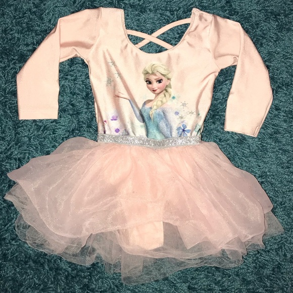 NWT Disney Store Frozen Elsa Leotard Tutu Dance Tulle Girls SZ 9//10